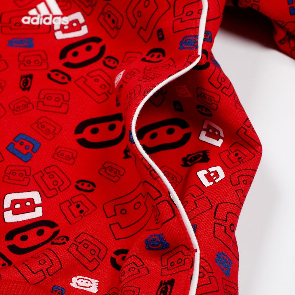 adidas/阿迪达斯冬季男童酷蹦系列红色连帽套头衫p03384