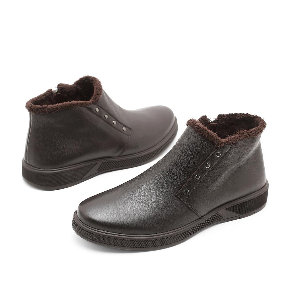 冬季森达棕色牛皮男棉鞋2jv32dd1