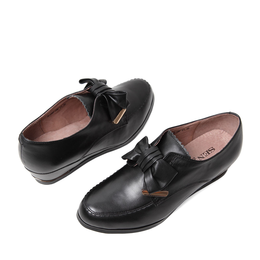 senda/森达秋季黑色牛皮女皮鞋3lu06cm4